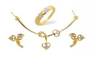 Ag Real Diamond Set including Mangalsutra, Earring & Ring