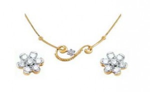 Ag Real Diamond Set including Mangalsutra & Earring