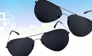 Reebok Black Aviator Sunglasses for Men
