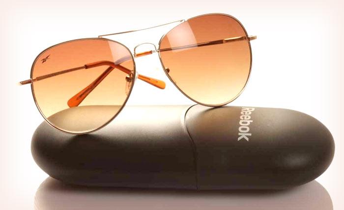 Reebok Golden Aviator Sunglasses with Brown Lens for Men
