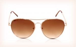 Reebok Golden Aviator Sunglasses with Brown Lens for Men