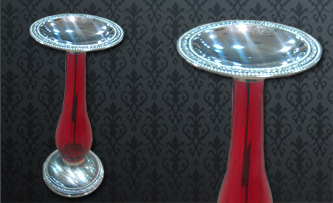 Red candle stand