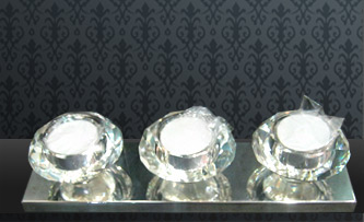 Crystal candle stands