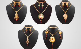 beautiful Designer Kundan Pendants Combo