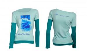 100% organic cotton blue haze coloured Play Ladies T-shirt