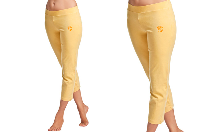 Organic cotton new wheat coloured Rishikesh Ladies Pant