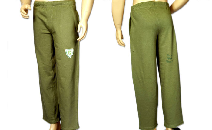 100% organic cotton olive coloured Ranthambhore Men's Pants