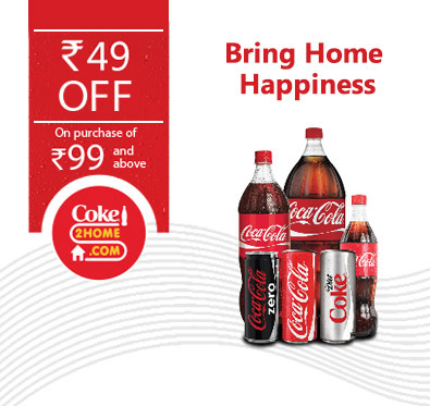 Rs 49 off on a minimum bill of Rs 99 @ Coke2home