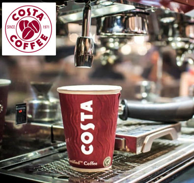 Get 20% off on a minimum bill of Rs 500 @ Costa Coffee